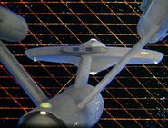 USS Enterprise and Tholian web - aft