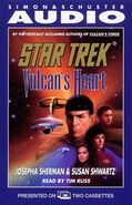 Vulcan's Heart audiobook cover, US cassette edition