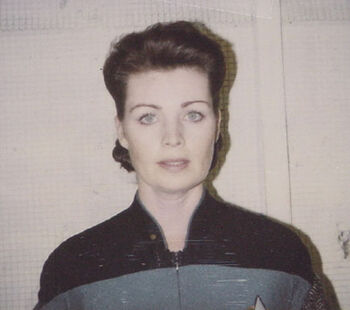 """Mendell in 1994, on a continuity Polaroid for the episode """"Firstborn"""""""