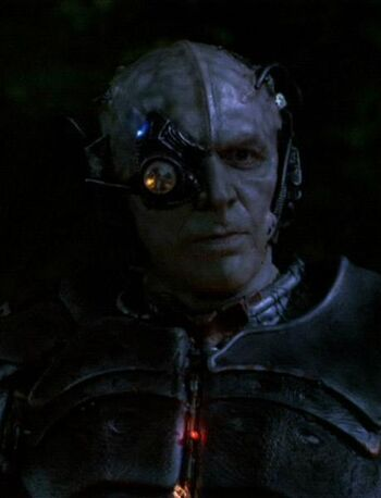 Lansor as a Borg drone in 2368