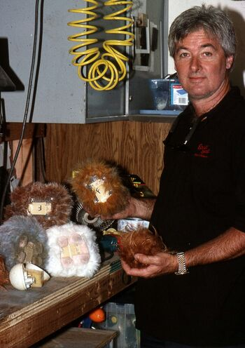 "Gary Monak  in 1996}, with some motorized tribbles from ""Trials and Tribble-ations"""