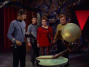 The crew of the Enterprise meets Sargon