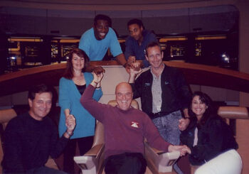 Leonhardt (far right) and fellow TNG stand-ins