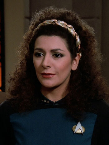 Lt. Commander Deanna Troi in 2364