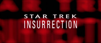 Title card for Star Trek: Insurrection