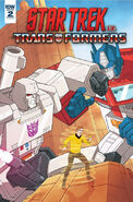 Star Trek vs. Transformers issue 2 cover A