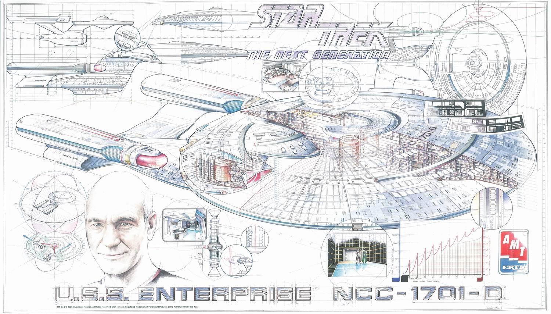 AMT 1995 30th anniversary cutaway poster USS Enterprise-D.jpg