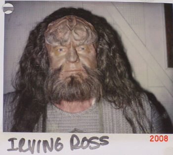 """Ross on a continuity Polaroid for """"Birthright, Part II"""""""