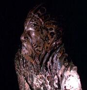 Night alien in corridor