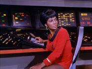 Uhura with PADD