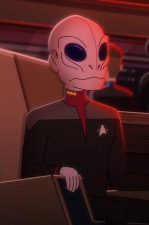 Saurian commander on the USS Titan in 2380