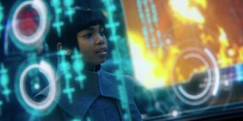 ... as the young Michael Burnham