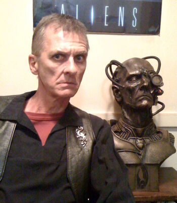 Mark Major in 2009 with his Borg bust