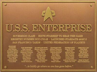 Raumschiffsammlung Widmungsplakette Enterprise (NCC-1701-E).jpg