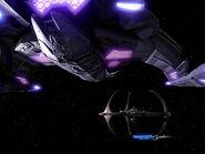 Jem'Hadar battle cruiser approaches DS9