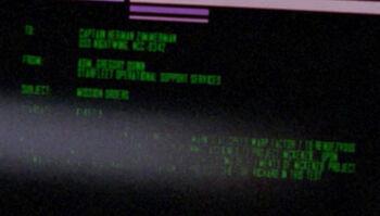 Herman Zimmerman on a Starfleet Command order