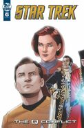 Star Trek The Q Conflict issue 6 cover A
