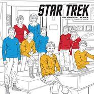 Star Trek The Original Series Adult Coloring Book cover