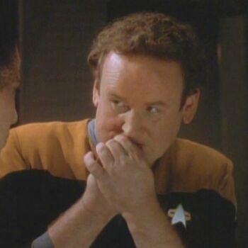 Miles O'Brien as Tobin Dax during Jadzia's zhian'tara