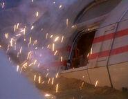 Runabout emergency hatch blown