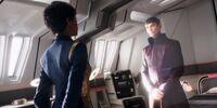 Rozmowa na temat stosunku Vulcan z Klingonami.