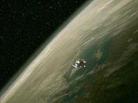 Shuttle drone orbiting Arkaria