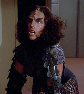 ...as a female Klingon