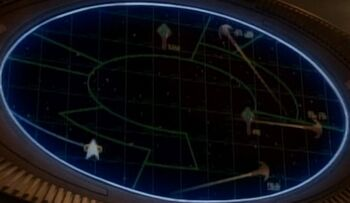 Appearing as Cardassian emblem on top center