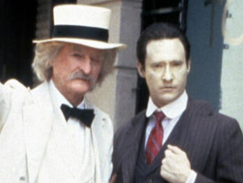 "Hardin with Brent Spiner in ""Time's Arrow, Part II"""
