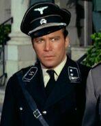 Kirk in Gestapo lieutenant uniform