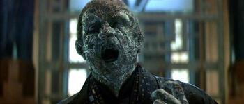 Praetor Hiren being consumed by Thalaron radiation (2379)