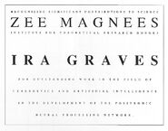 Ira Graves' Zee Magnees certificate