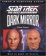 Dark Mirror audiobook cover, UK cassette edition