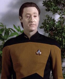 Data wearing an early 2366 uniform jacket.jpg