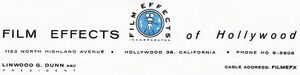 Film Effects of Hollywood