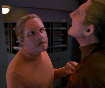 The Changeling attacks Odo