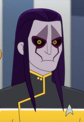 A Rigellian Starfleet officer, 2380