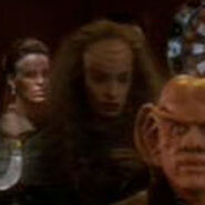 Klingon warrioress at funeral