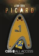 FanSets Star Trek Picard Dog Tag pin