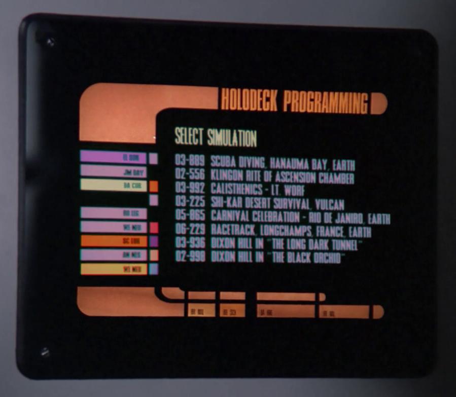 Holographic programs