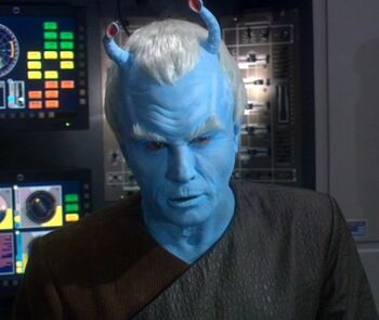 Holographic image of Shran in 2161