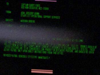 Sandy Fries on a Starfleet Command order