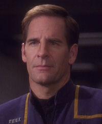 Scott Bakula ve Star Trek: Enterprise jako kapitán Jonathan Archer.