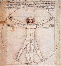 Schemat ciała ludzkiego, Leonarda Da'Vinci
