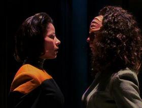 B'Elanna Torres, Human-Klingon faceoff.jpg