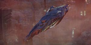 Vulcan cruiser in flight