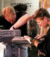 K't'inga class model being refurbished by John Goodson and Bill George for it to become Kronos One