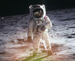 Edwin Aldrin auf Luna