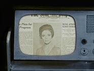 Wächter der Ewigkeit, Zeitungsausschnitt Edith Keeler (alternative Zeitlinie)