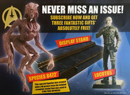 GE Fabbri Star Trek Figurine Collection Species 8472 and Locutus